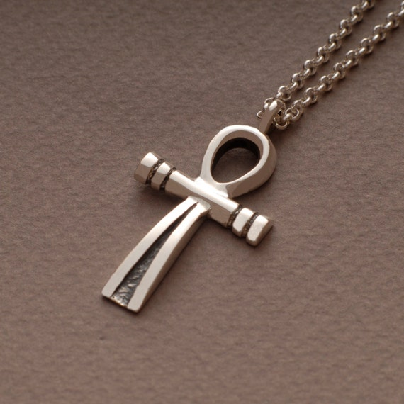 ankh cross necklace sterling silver cross pendant
