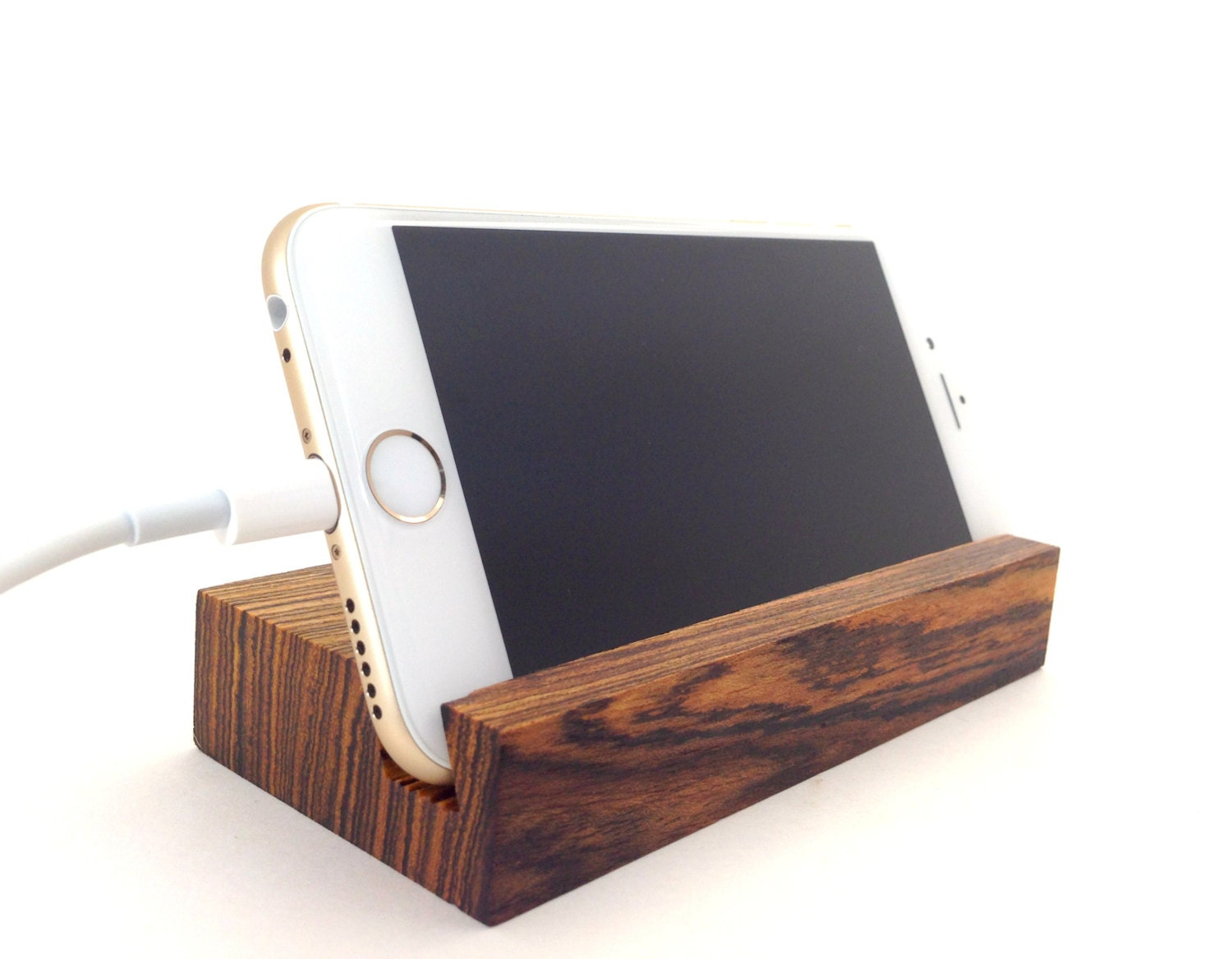 Iphone stand bocote wood