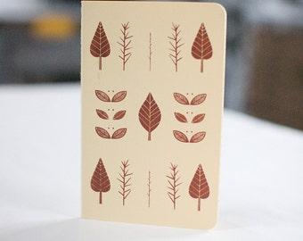 Leaves Notebook Moleskine Ruled Journal CREAM Screenprint