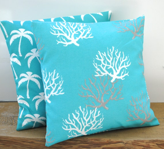 Nautical Decorative Pillow Covers : Two nautical pillow covers cushion decorative throw pillow