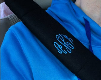Monogrammed Seatbelt Shoulder Pads (set of 2)