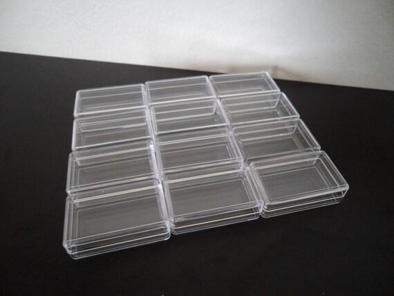 Hard Plastic Storage Bins Eagrye 12 Quart Clear Latch