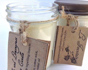 Citronella and Lemongrass Soy Candles, Soy Candles, Handmade Candles