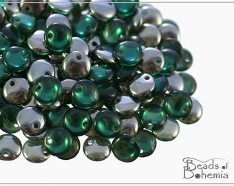 Light Teal Chrome Czech Lentil Beads 6 mm, 50 pcs (8574)