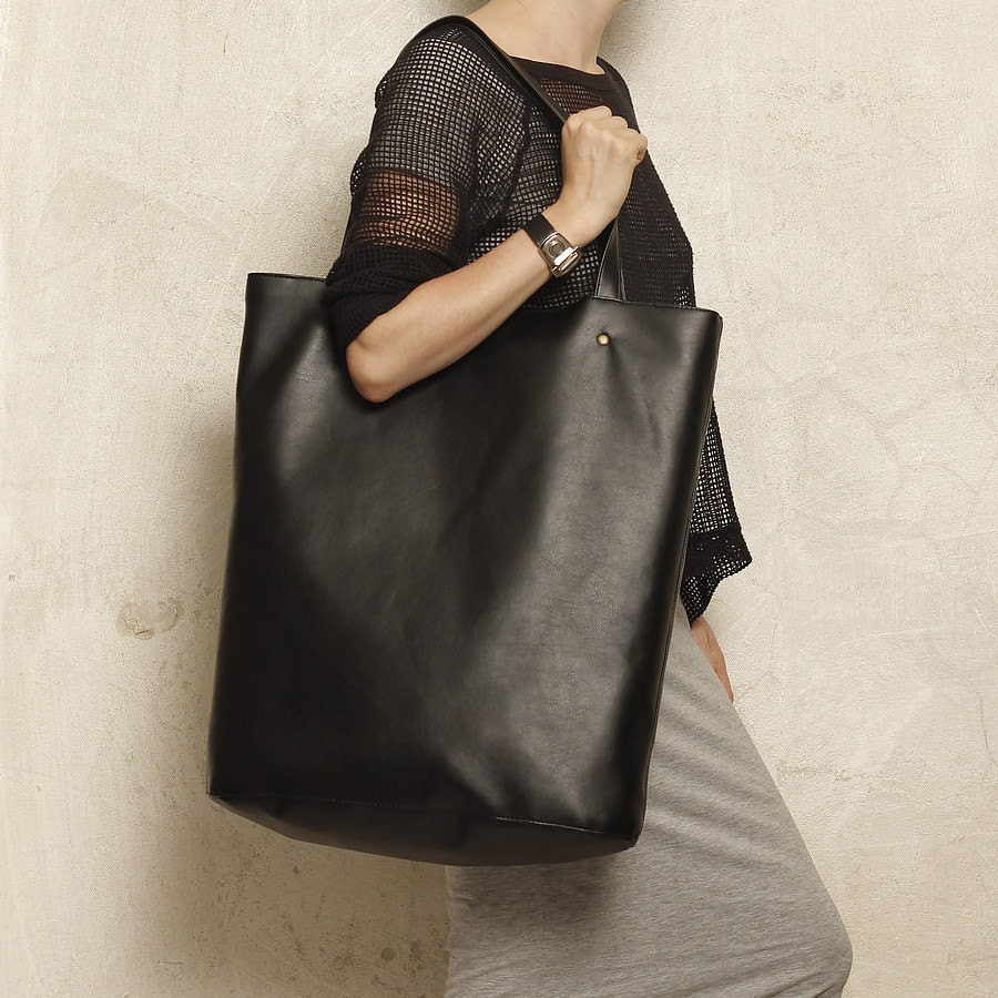 Mega Shopper bag black tote bag shoulder oversized extra large