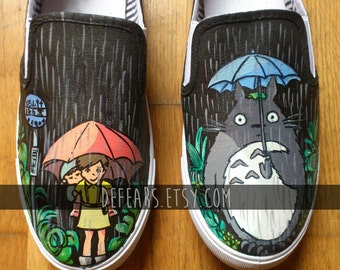 My Neighbor Totoro - Hand Painted Pumps