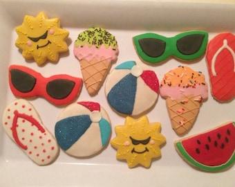 Summer Beach Themed Cookies