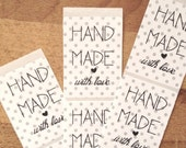 18 Handmade with love stickers