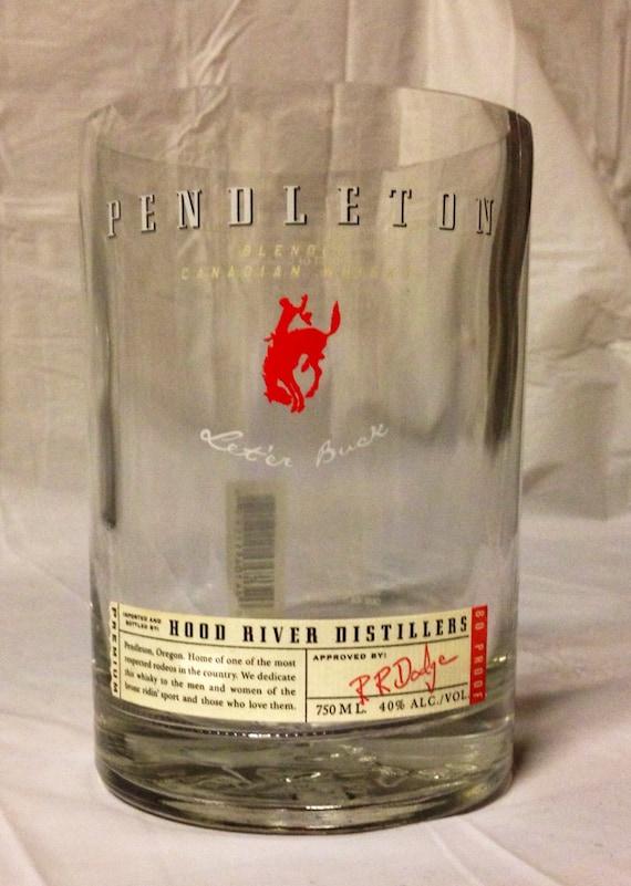 Pendleton whisky liquor bottle glass or by for Liquor bottle vases