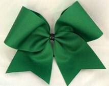 Practice Cheer Bow - Emerald Green