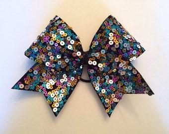 Cheer Bow - Confetti Sequin