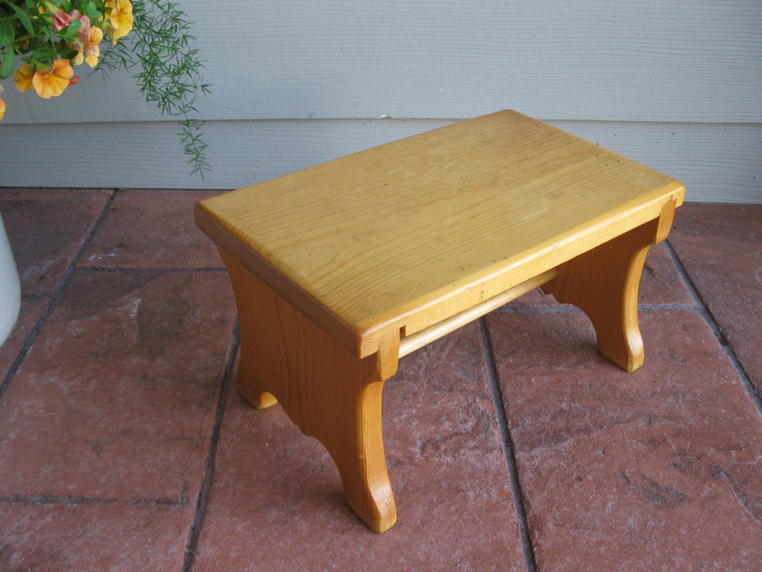 Super Cute Wood Bench Step Stool Handcrafted By Oakiesclaptrap