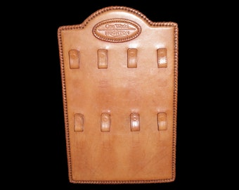 Brighton One World Vintage Leather Retail Counter Top Display for Keychains Key Fobs Key Rings