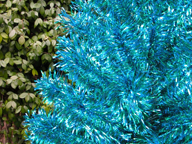 RESERVEDVintage Turquoise Christmas Tree