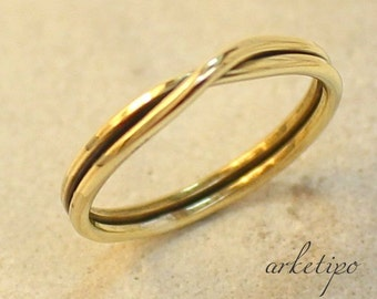 Handmade Ring of brass..Stacking Ring.. Elegant and comfortable.. You will love it