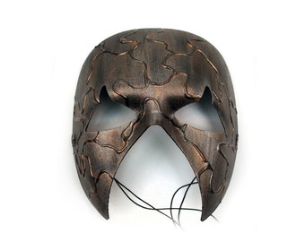 In Vain Scary Hand-Painted Men's Masquerade Mask - A-0464-E