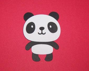 30 Panda die cuts - 3 inches tall