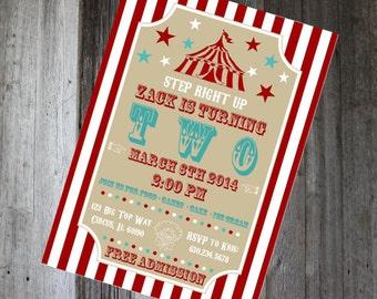 Carnival Invite - Circus Invitation - DIY PRINTABLE