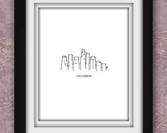 Los Angeles Minimalist Print