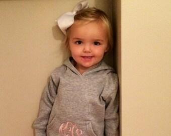 Monogrammed Toddler Hoodie Sweatshirt
