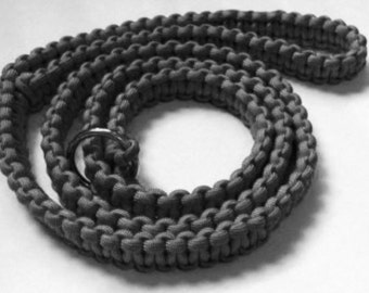 Paracord Slip Dog Leash, 4ft long, Cobra Weave, Free Shipping