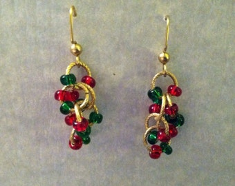 Red, Green & Gold Earrings