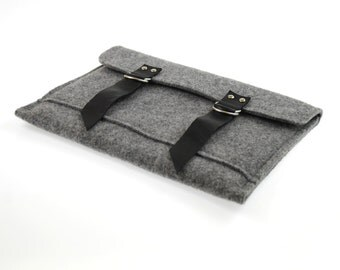 "Felt Case iPad Air, Sleeve  iPad, Nexus 10, Kindle Fire 8.9"" HD custom size with pocket"