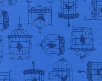 Tweet Bird Cage Cotton Fabric by Timeless Treasures! [Choose Your Cut Size]