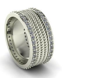 yurman inspired mens rope wedding band - David Yurman Mens Wedding Rings