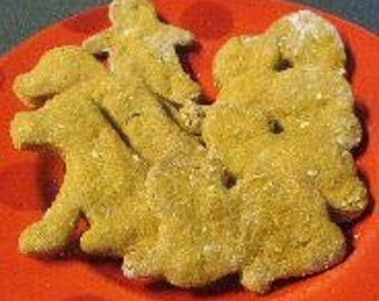 Organic dog treats/cookies -  made to order - 4 different flavors - you choose the shape!