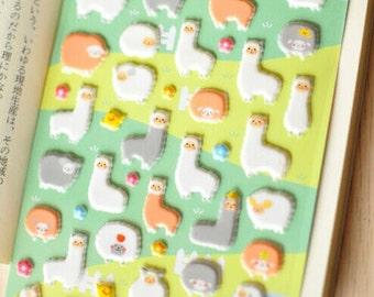 30%OFF Korea Alpaca pattern Foam scrapbook craft sticker-S014