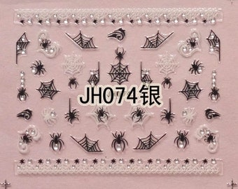 BLE-JH074 Black Nail Art Sticker Nail Art Sticker Sheet DIY Nail Art