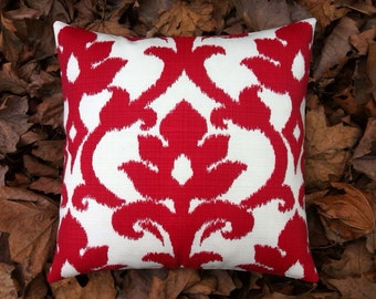 outdoor pillows red