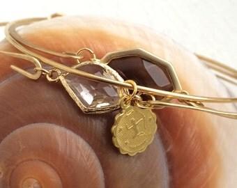 Sagittario segno zodiacale ottone grezzo braccialetto di fascino, novembre 22-dicembre 21, #LLVZB1009