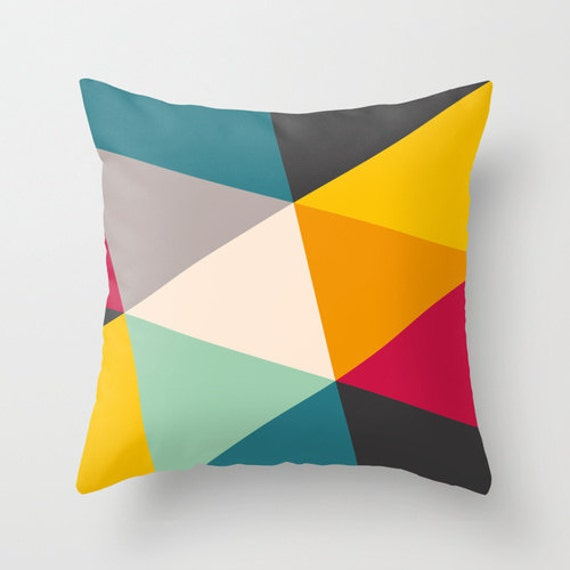 Decorative Throw Pillow Cover Rainbow Pattern by TheMotivatedType