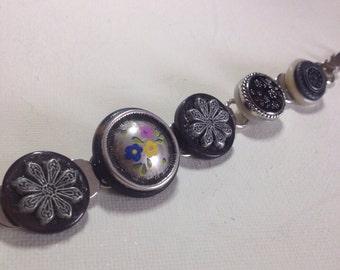 Vintage Button Bracelet.