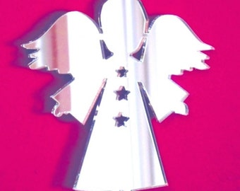 Angel Stars Christmas Mirror - 5 Sizes Available