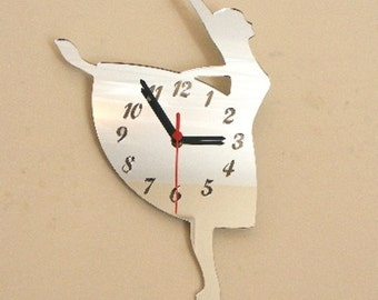 Ballerina Clock Mirror - 2 Sizes Available