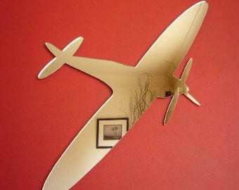 Spitfire Shaped Mirrors - 5 Sizes Available.  Also available in packs of 10 Crafting Mirrors