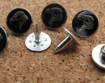 10mm Eagle Rivet Button Stud Shank Rivet Tacks  Metal DIY