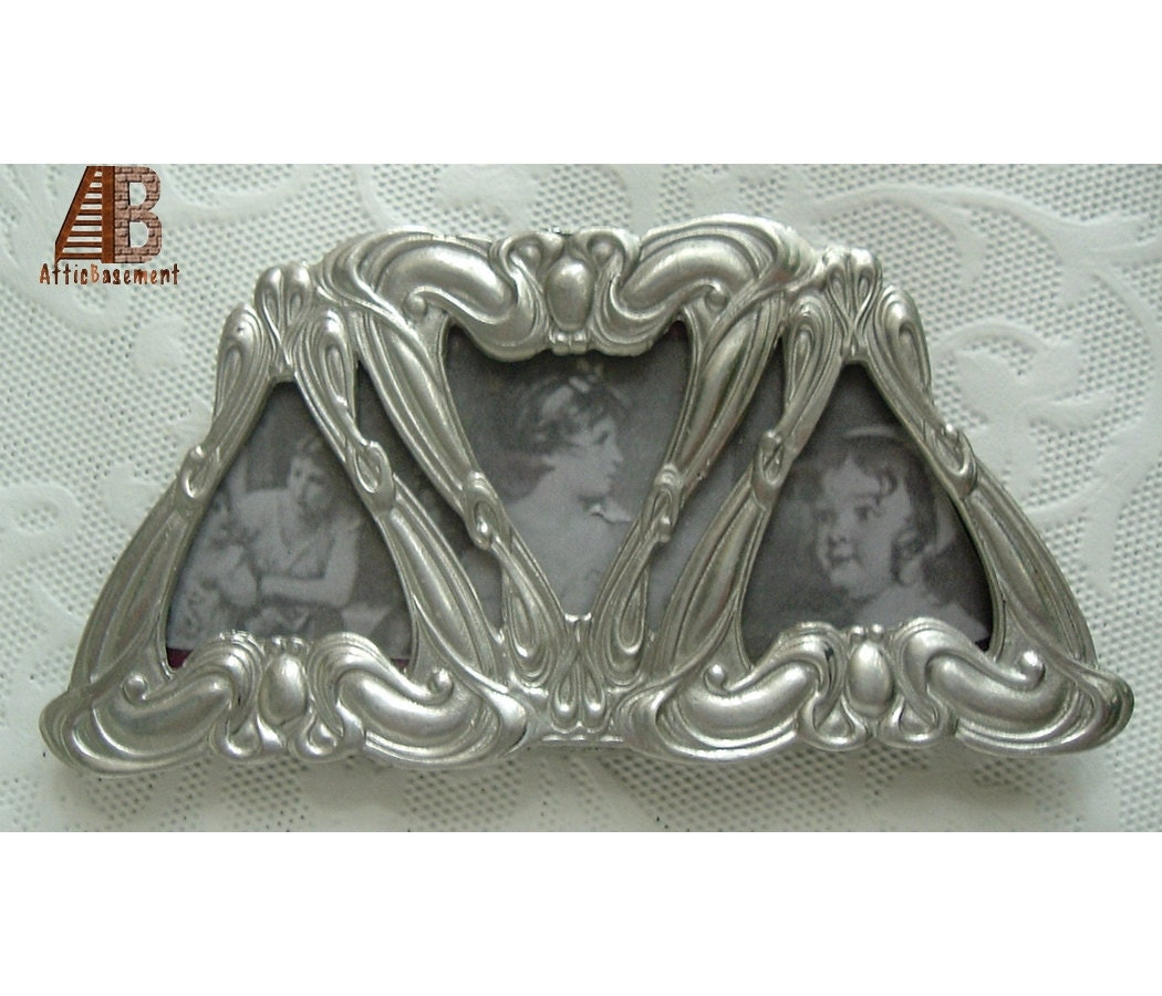 Easel Frame Fine Pewter Metal Small Abstract Asymmetrical