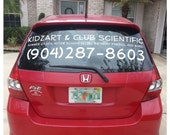 Company Name & Phone Number Vinyl Sticker/Decal - Use on Vehicles, Storefront Windows and Doors, Signs, or Even Your Home Address!
