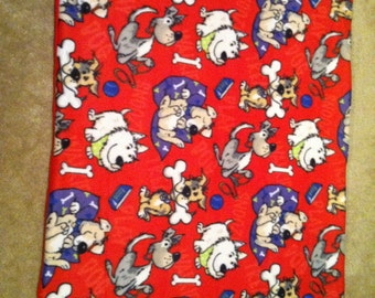 Red doggie Fleece Blanket
