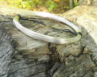"""22ga  sterling silver filled round wire, dead-soft,  5 feet,  """"green"""" recycled eco-friendly, 5'"""