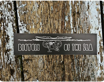 Bicycle of the Sea - by Decaffeinated Designs (3x11) Waterproof, weatherproof and durable vinyl bumper sticker