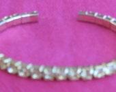 Lemon Yellow Rhinestone Cuff Bracelet