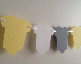 Gray and Yellow Baby Shower Decor, Yellow Baby Garland, Yellow and Gray Garland, Yellow and Gray Baby Shower Decor, Yellow and Gray Baby Nur