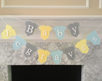Baby Shower Decor, Baby Name Banner, Baby Shower Banner, It's A Girl Banner, It's A Boy Banner, Gender Neutral Banner, Nursery Wall Art