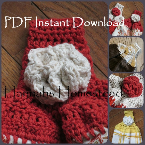Crochet Patterns Kitchen Towels : Kitchen Towel Top Crochet Pattern, Instant Download PDF Pattern ...
