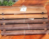 Contemporary Cutting Boards/ Serving Trays with Dovetailed Feet